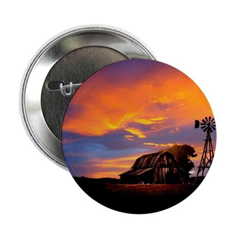 God is Watching Sunset 2.25&quot; Button (100 pack)