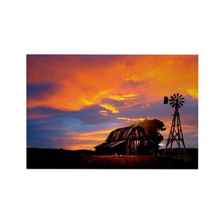 God is Watching Sunset Rectangle Magnet (100 pack)