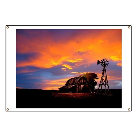 God is Watching Sunset Banner