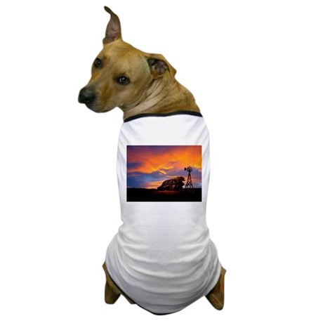 God is Watching Sunset Dog T-Shirt