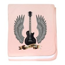 e-guitar rock wings baby blanket