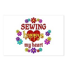 Sewing Happy Postcards (Package of 8)
