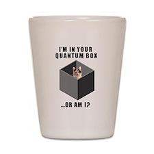 Schrodinger's Quantum Cat Shot Glass