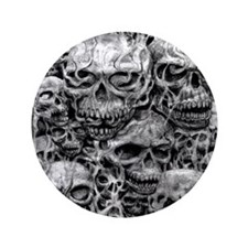"skulls dark ink 3.5"" Button (100 pack)"