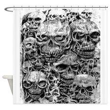 skulls dark ink Shower Curtain