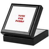 VOTE FOR PEDRO Keepsake Box