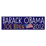 BARACK OBAMA JOE BIDEN flag 2012 Bumper Sticker