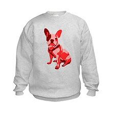 Bulldog Retro Dog Sweatshirt