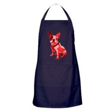 Bulldog Retro Dog Apron (dark)