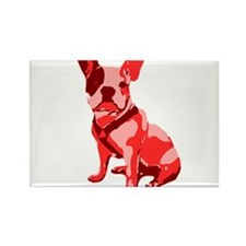 Bulldog Retro Dog Rectangle Magnet