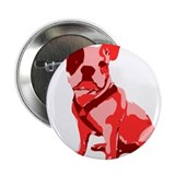 "Bulldog Retro Dog 2.25"" Button"