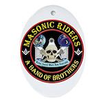 Masonic Biker Brothers Ornament (Oval)