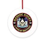 Masonic Biker Brothers Ornament (Round)