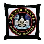 Masonic Biker Brothers Throw Pillow