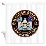 Masonic Biker Brothers Shower Curtain