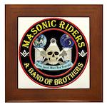 Masonic Biker Brothers Framed Tile