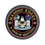 Masonic Biker Brothers Wall Clock
