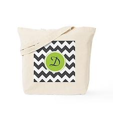 Customizable Chevron Initial Tote Bag
