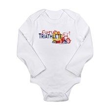 Unique Kids triathlon Long Sleeve Infant Bodysuit