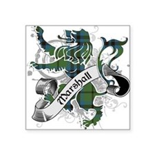 "Marshall Tartan Lion Square Sticker 3"" x 3"""