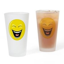 Laughing Smiley Face Drinking Glass