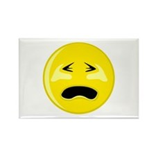 Crying Smiley Face Rectangle Magnet (100 pack)