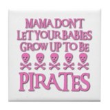 BABY PIRATES Tile Coaster