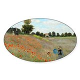 Monet - Poppy Field Decal