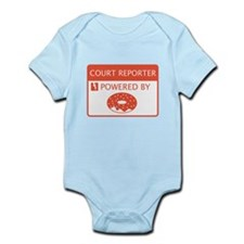 Court Reporter Powered By Doughnuts Infant Bodysui