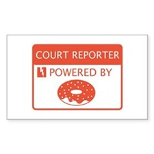 Court Reporter Powered By Doughnuts Decal