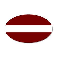 Latvia 35x21 Oval Wall Decal