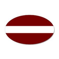 Latvia 20x12 Oval Wall Decal