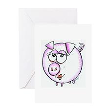 Pig Diva Greeting Card