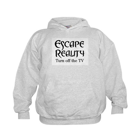 Escape Reality Ban TV Anti Kids Hoodie