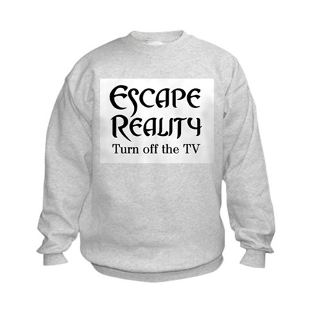 Escape Reality Ban TV Anti Kids Sweatshirt