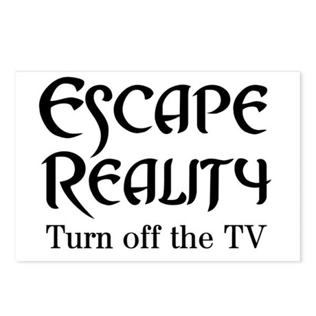 Escape Reality Ban TV Anti Postcards (Package of 8