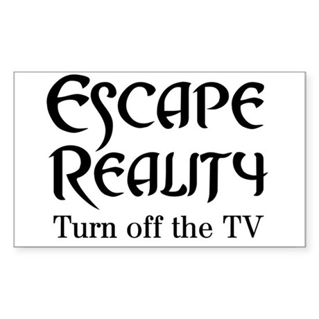 Escape Reality Ban TV Anti Rectangle Sticker