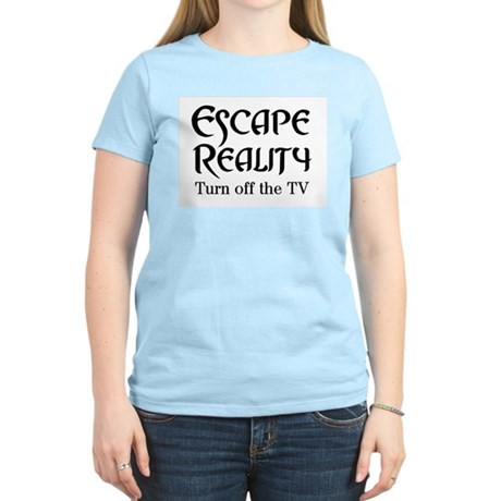Escape Reality Ban TV Anti Women's Light T-Shirt