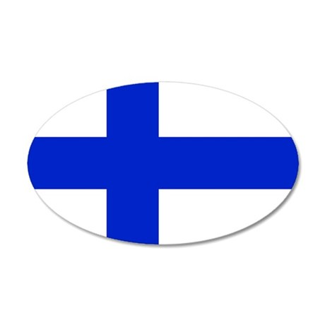 Finland 20x12 Oval Wall Decal