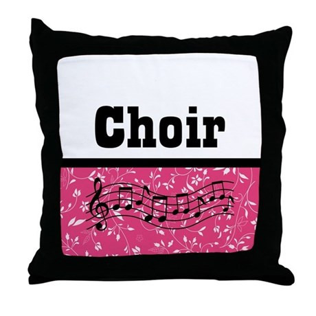Choir Music Pink Throw Pillow