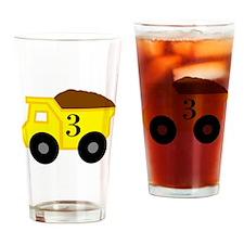 Third Birthday Dump Truck Drinking Glass