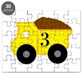 Dump truck third birthday Jigsaw Puzzle