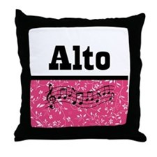 Alto Singer Choir Throw Pillow