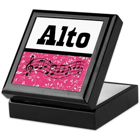Alto Singer Choir Keepsake Box