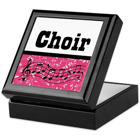Choir Music Pink Keepsake Box