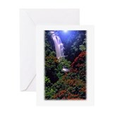 Moonlight Falls Greeting Card