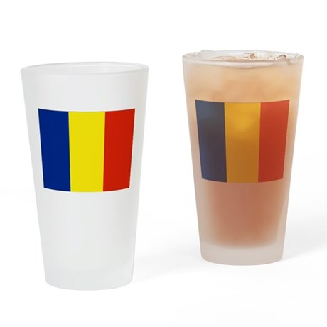 Romanian flag Drinking Glass