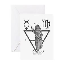 Virgo the Virgin Greeting Card