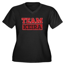 Team Keira Women's Plus Size V-Neck Dark T-Shirt