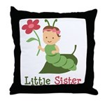 Little Sister - Caterpillar Throw Pillow